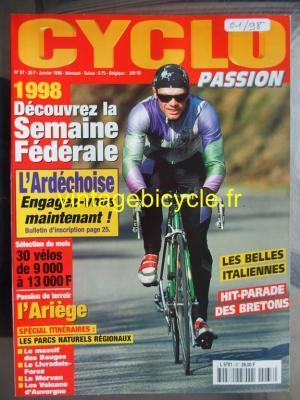 CYCLO PASSION 1998 - 01 - N°37 janvier 1998