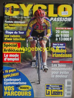 CYCLO PASSION 1998 - 03 - N°39 mars 1998
