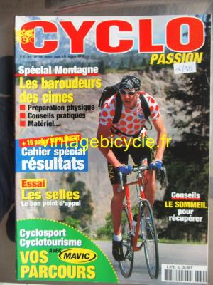 CYCLO PASSION 1998 - 06 - N°42 juin 1998