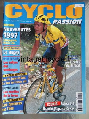 CYCLO PASSION 1996 - 09 - N°21 septembre 1996