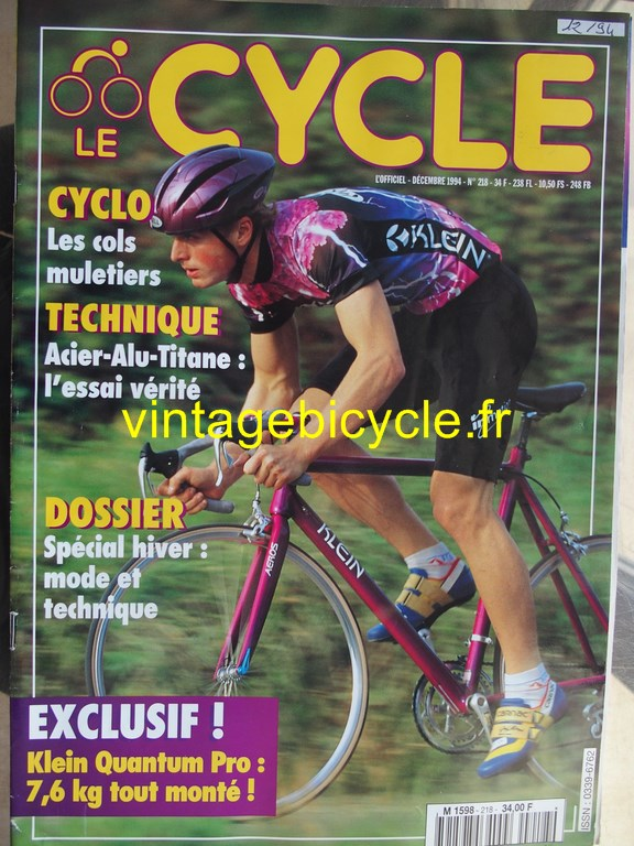 Vintage bicycle fr l officiel du cycle 14 copier