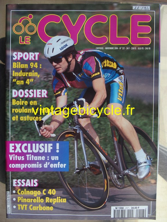 Vintage bicycle fr l officiel du cycle 15 copier
