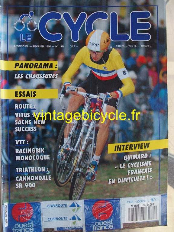 Vintage bicycle fr l officiel du cycle 30 copier