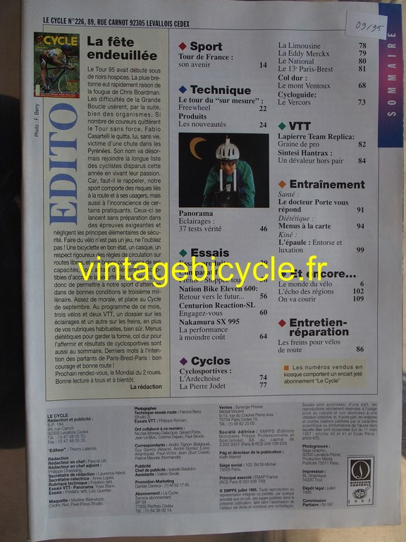Vintage bicycle fr l officiel du cycle 5 copier