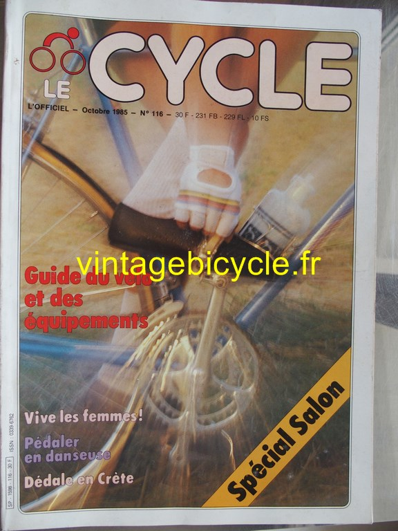 Vintage bicycle fr l officiel du cycle 56 copier