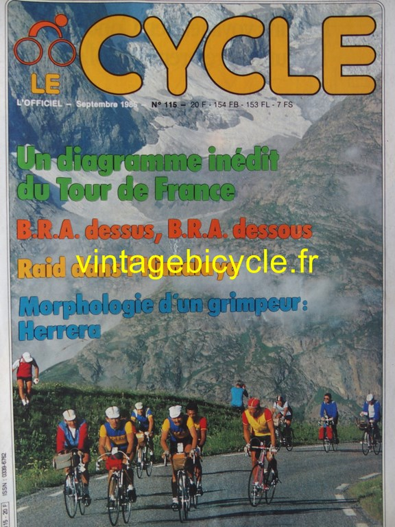 Vintage bicycle fr l officiel du cycle 57 copier