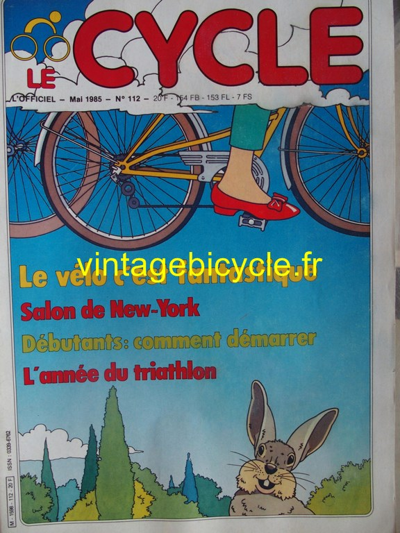 Vintage bicycle fr l officiel du cycle 60 copier