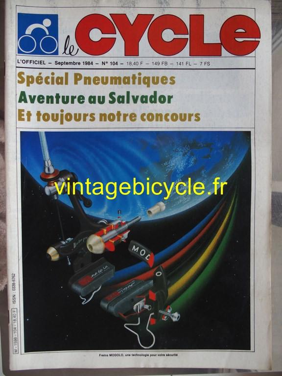 Vintage bicycle fr l officiel du cycle 67 copier