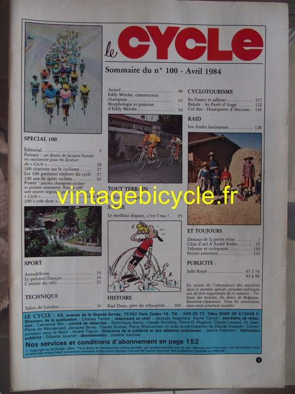Vintage bicycle fr l officiel du cycle 70 copier
