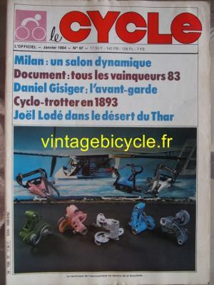 LE CYCLE l'officiel 1984 - 01 - N°97 janvier 1984