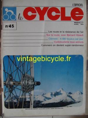 LE CYCLE l'officiel 1979 - 04 - N°45 avril 1979