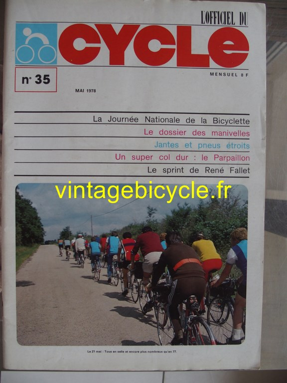 Vintage bicycle fr l officiel du cycle 76 copier