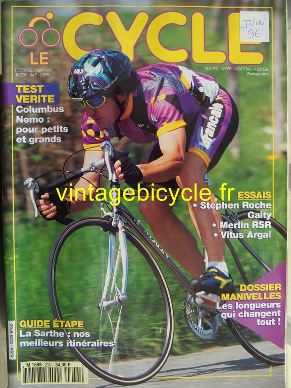 Vintage bicycle fr l officiel du cycle 82 copier