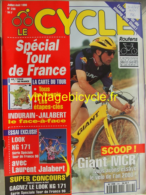 Vintage bicycle fr l officiel du cycle 83 copier
