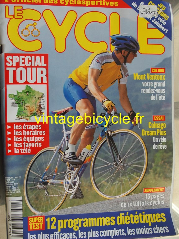 Vintage bicycle fr l officiel du cycle 88 copier