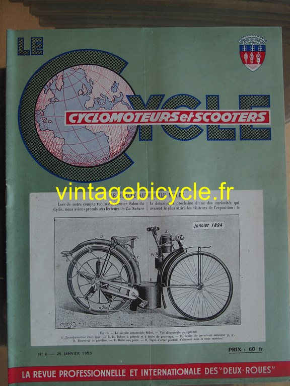 Vintage bicycle fr lecycle 5 copier