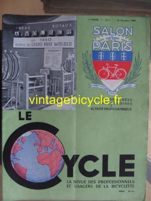 LE CYCLE 1949 - 11 - N°1 novembre 1949