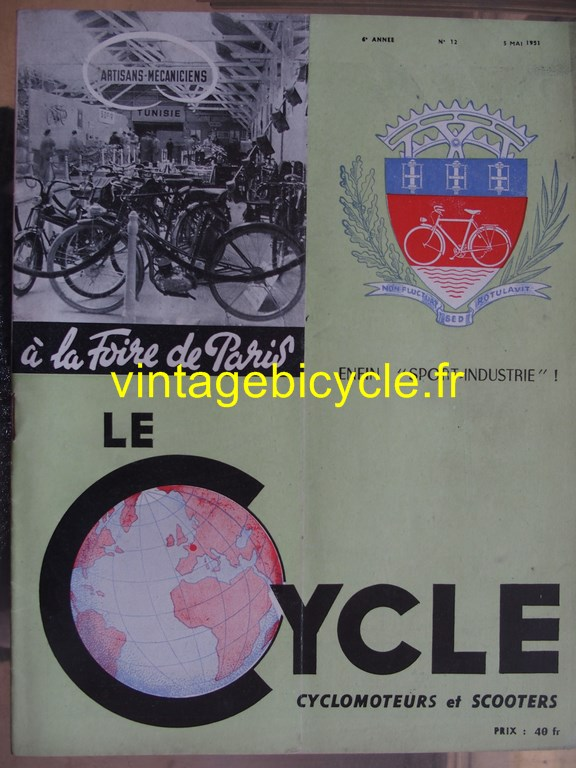 Vintage bicycle fr lecycle 67 copier