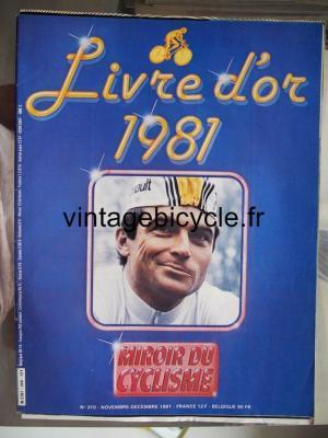 MIROIR DU CYCLISME 1981 - 11 - N°310 novembre / decembre 1981