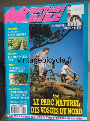 MOUNTAIN BIKE INTERNATIONAL 1992 - 11 - N°21 novembre 1992