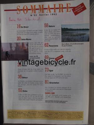 MOUNTAIN BIKE INTERNATIONAL 1993 - 02 - N°23 fevrier 1993