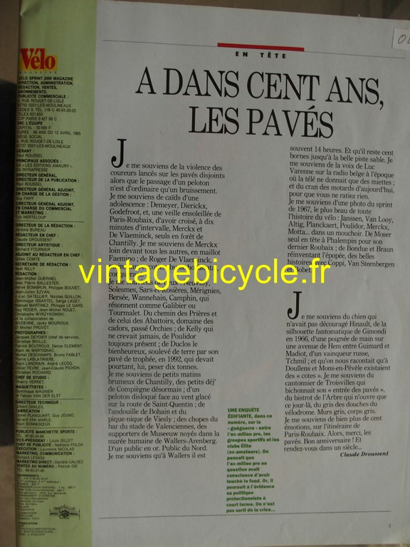 Vintage bicycle fr velo magazine 30 copier