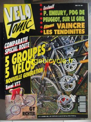 VELO TONIC 1992 - 02 - N°11 fevrier 1992