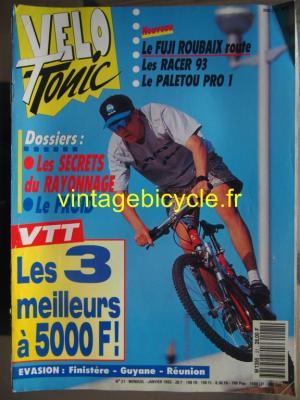 VELO TONIC 1993 - 01 - N°21 janvier 1993