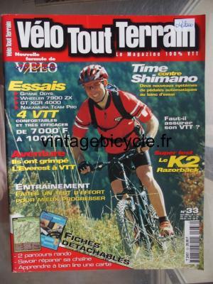 VELO TOUT TERRAIN 2000 - 04 - N°33 avril 2000