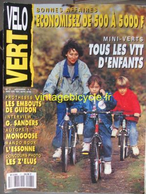 VELO VERT 1991 - 12 - N°21 decembre 1991