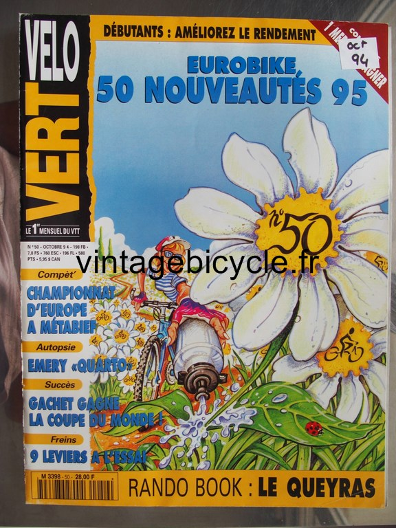 Vintage bicycle fr velo vert 7 copier