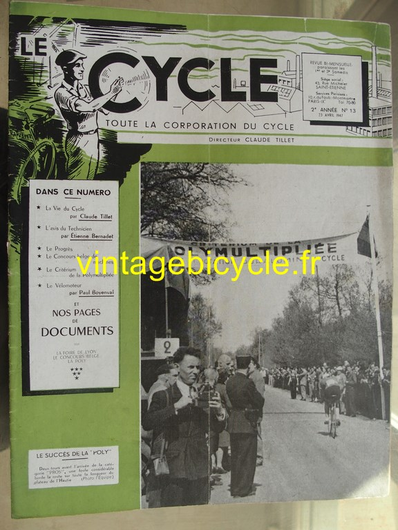 Vintage bicycle le cycle 13 copier