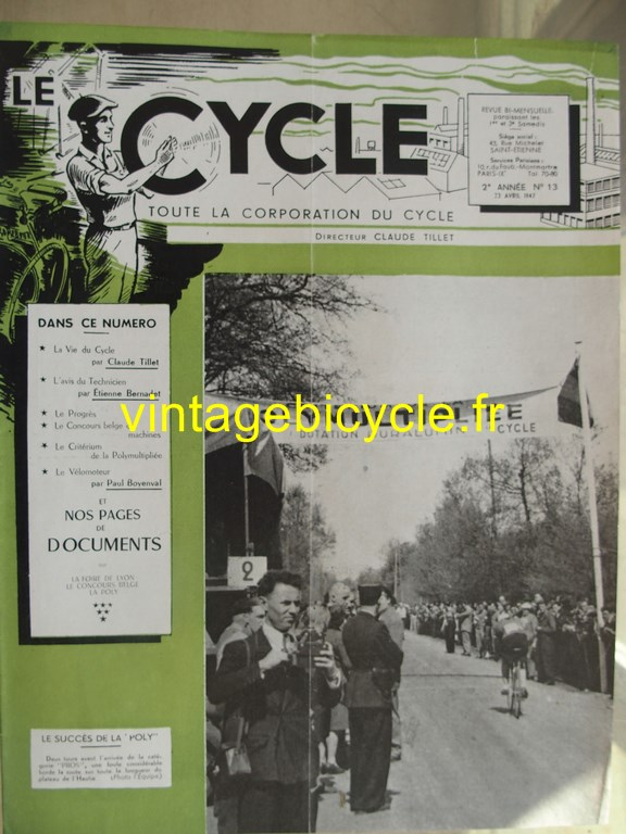 Vintage bicycle le cycle 14 copier