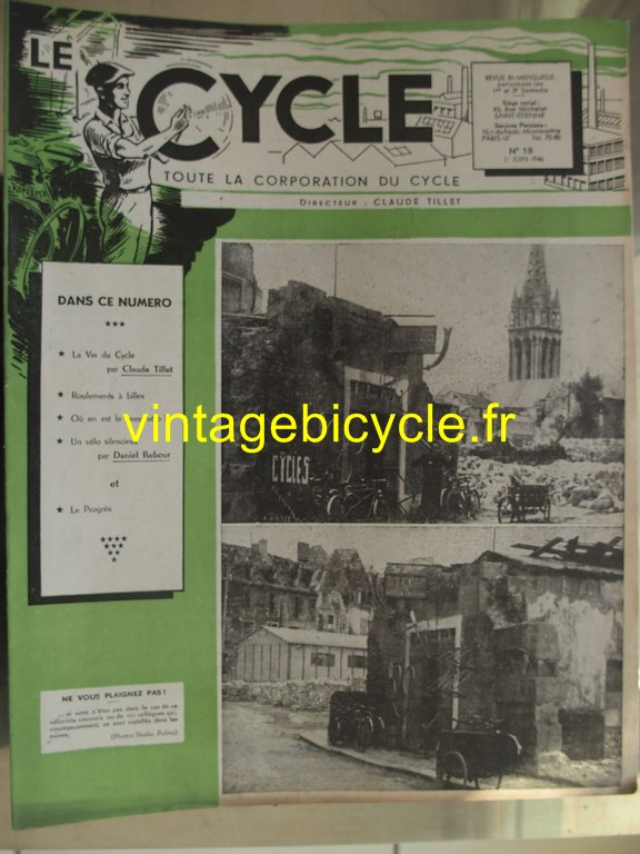 Vintage bicycle le cycle 21 copier