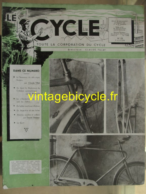 Vintage bicycle le cycle 27 copier
