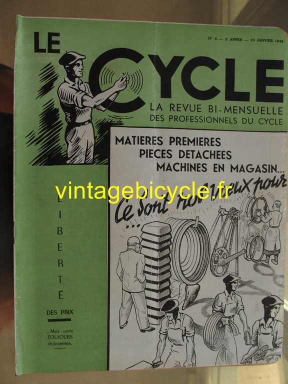 Vintage bicycle le cycle 39 copier