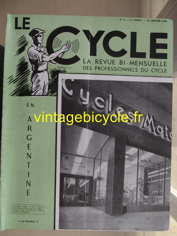 Vintage bicycle le cycle 40 copier