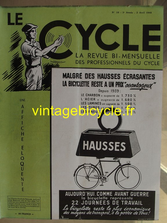 Vintage bicycle le cycle 45 copier