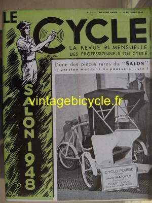 LE CYCLE 1948 - 10 - N°24 octobre 1948