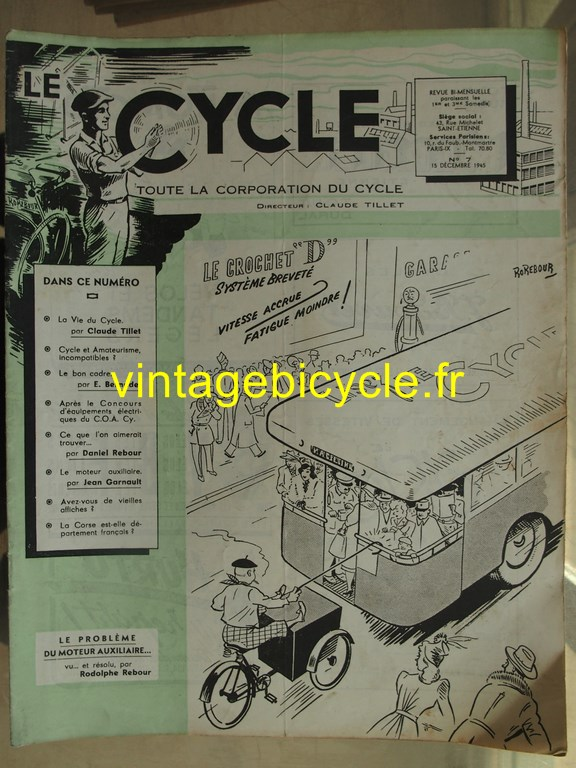 Vintage bicycle le cycle 6 copier