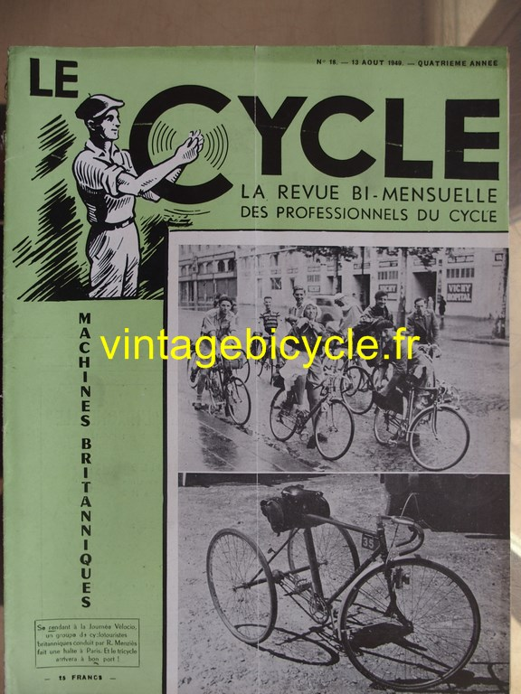 Vintage bicycle le cycle 78 copier